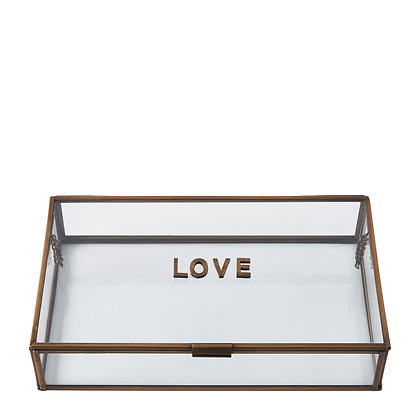 Rivièra Maison French glass love Box 30x18