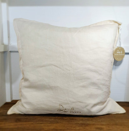 Do it... Pillow Cover flax 50x50