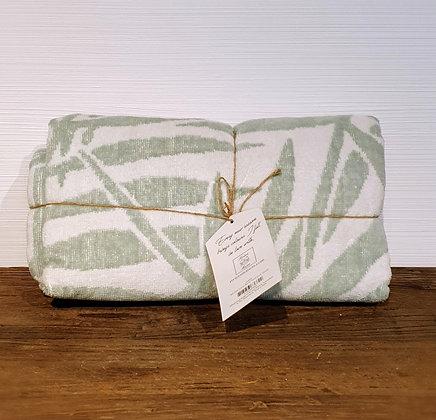 RM Palm Leaves Beach Towel green