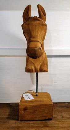 L+L Pferdekopf aus Holz
