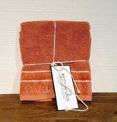 Rivièra Maison Elegant Guest Towel plum