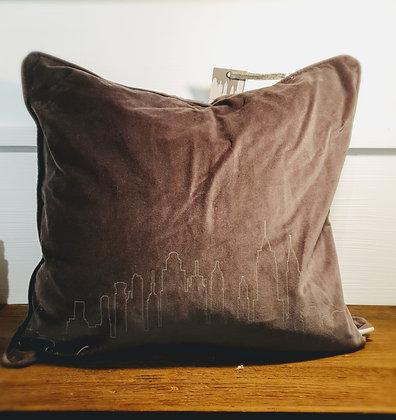 Rivièra Maison Kissenbezug NYC Velvet Cushion Covet taup
