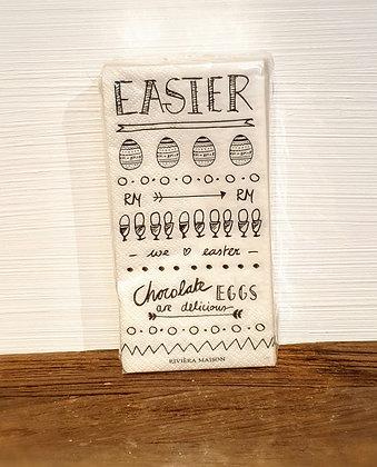 Paper Napkin Happy Easter