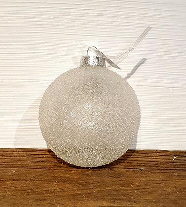 Countryfield Weihnachtskugel, Glas mit Schnee
