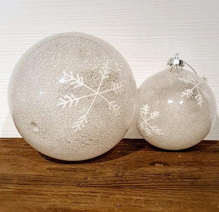 Decostar Weihnachtskugel gefrostet