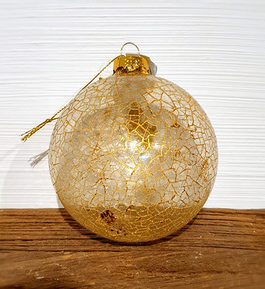 Decostar Weihnachtskugel mit zartem Netzmuster