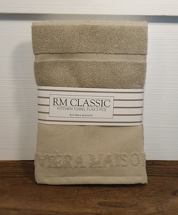 Rivièra Maison Classic Kitchen Towel flax 2 pcs
