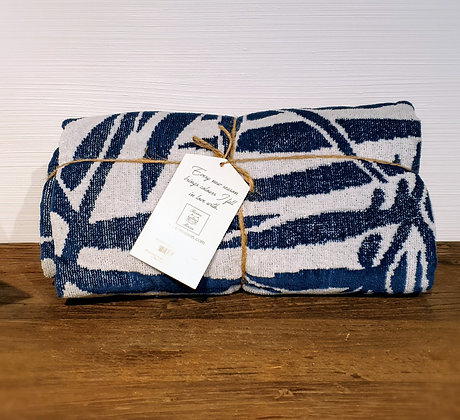 RM Palm Leaves Towel blue