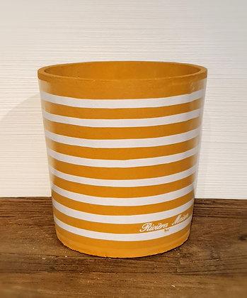 Botanical Stripe Pot