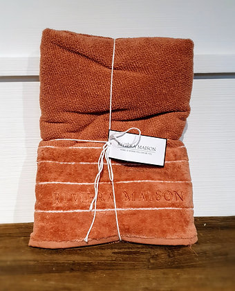 Rivièra Maison Elegant Towel Badetuch, plum