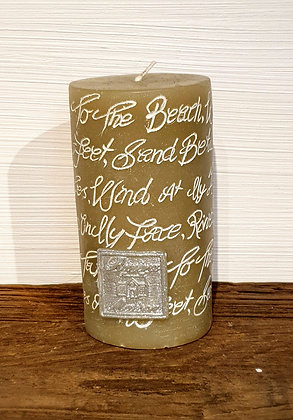 Beach Poem Candle sand