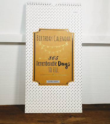 Rivièra Maison Birthday Calendar