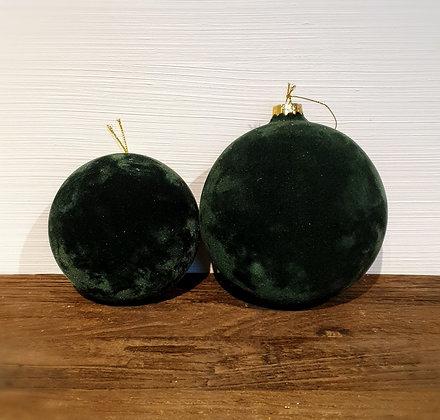 Decostar Weihnachtskugel, Samt, groß xl