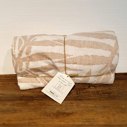 RM Palm Leaves Beach Towel flax