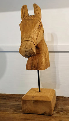 Horse Ornament Wood