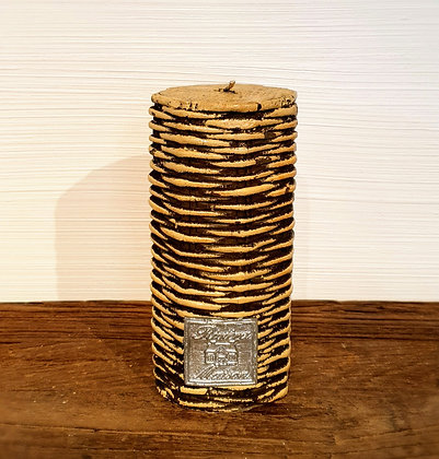 Rustic Rattan Candle