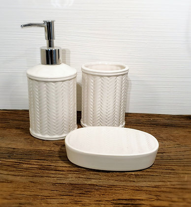 Rivièra Maison Ceramic Rattan Weave Soap Dispender
