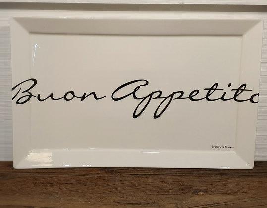 Rivièra Maison Buon Appetito Plate 40x25 cm