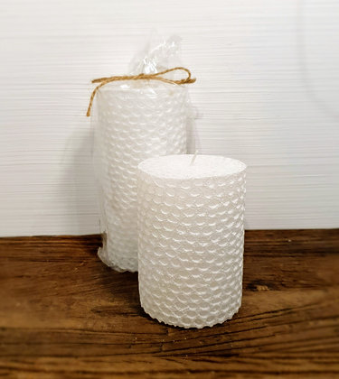 Coral Reaf Candle white 7x10