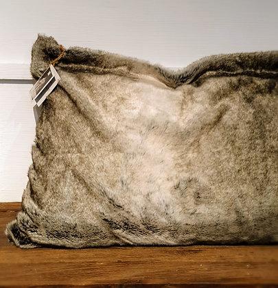 Rivièra Maison Chinchilla Faux Fur Pillow Cover, grau