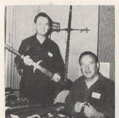 Bill Williamson & Bob Benson athe Western States Show in the San Fernando Community Hall