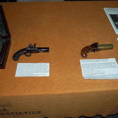 """Forsyth"" Flintlock Pistol & Unknown 4 Barrel Double Top-Hammer Pepperbox"