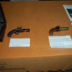 """Forsyth"" Flintlock Pistol & Unknown 4 Barrel Double Top-Hammer Pepperbox"