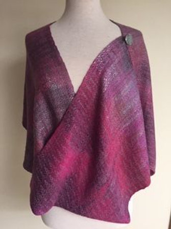 Iced Berries Mobius Shawl