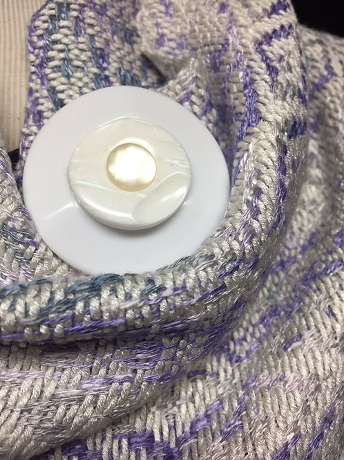 White Pearl Magnetic Scarf/Shawl Pin