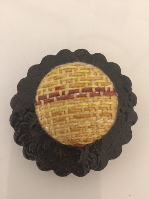Gold Fabric Pottery MagnetPin