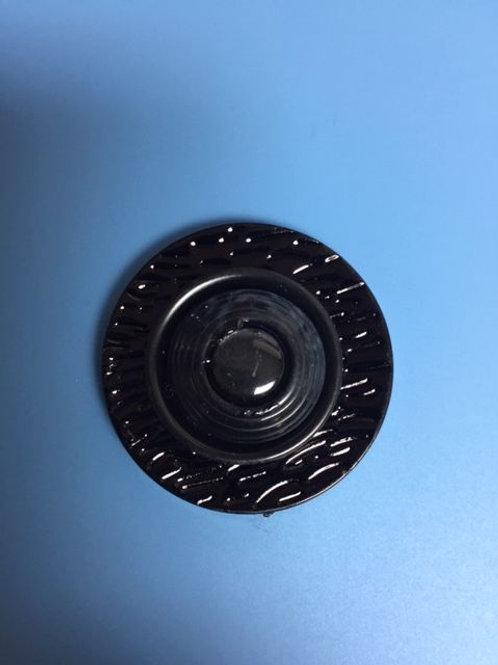 Black Round Magnetic Pin