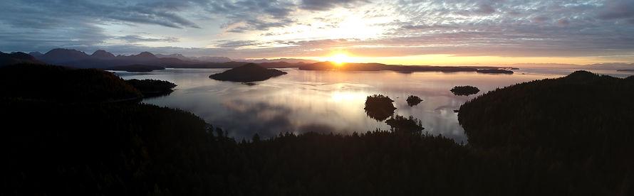 sunrise over Sutil Channel