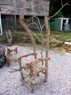 rustic throne