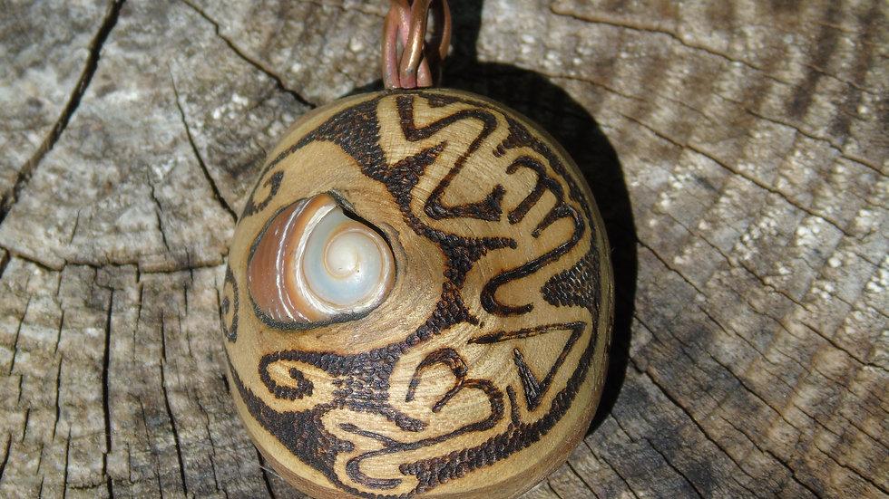 Angelic Ash Abalone Pendant