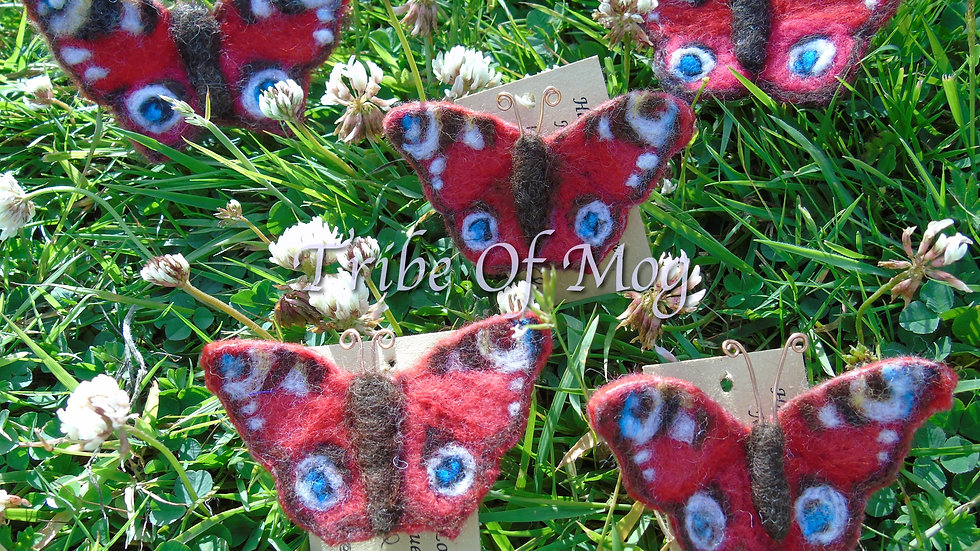 needle-felted BUTTERFLY