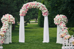 Floral Wedding Arch and Pillars