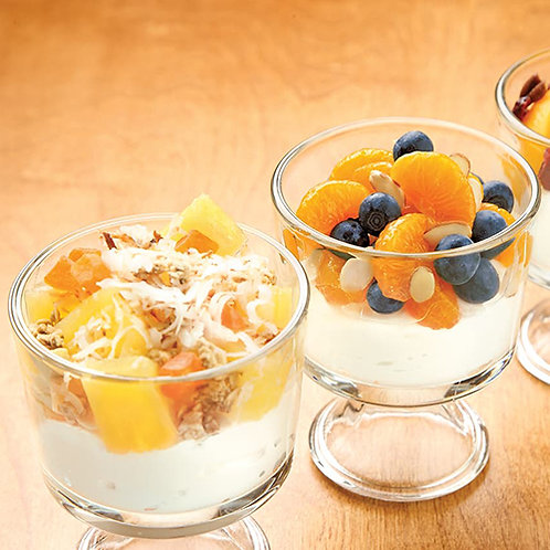 Fresh fruit Cup, and individual yogurt