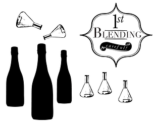 Blending wine bottles