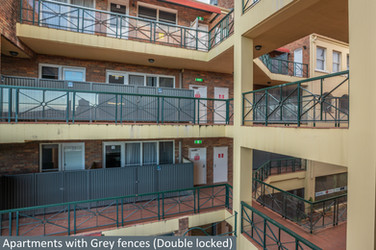 Apartments with Grey fences (Double lock
