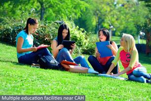 Multiple education facilities near CAH.j