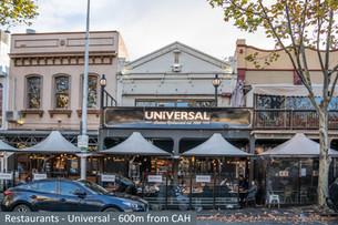 Restaurants - Universal - 600 m from CAH