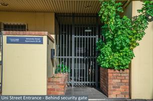 Uni Street Entrance - Behind security gate
