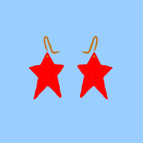 Sparkly Solid Star Dangles