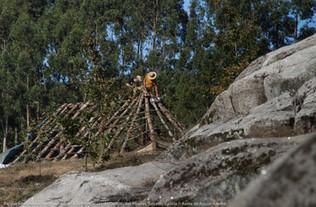 Pembangunan Taman Etno-Arkeologi Gubuk Prasejarah Outeiro das Mouras, Salcedo Galicia - Spanyol Foto: Kenia de Aguiar Ribeiro Juli 2019
