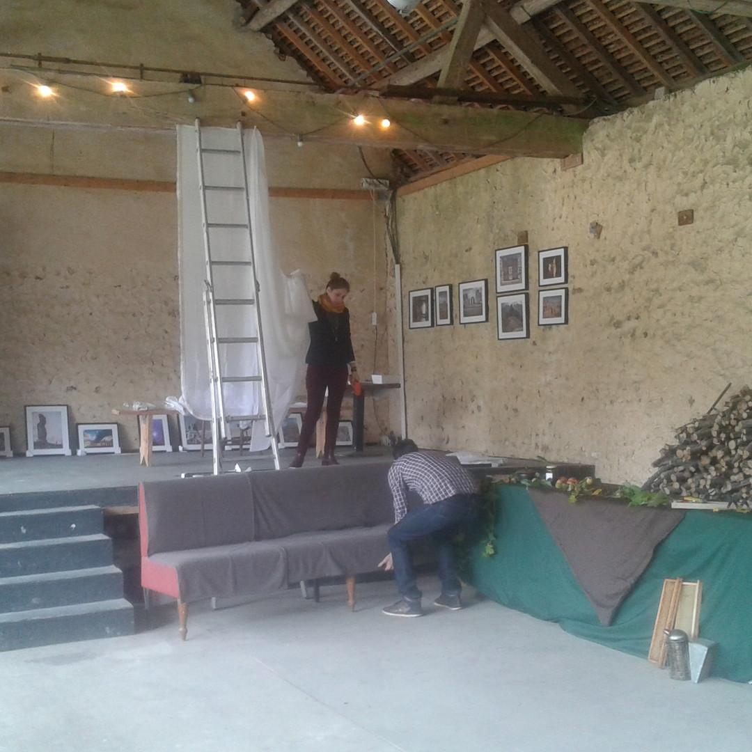 Preparativos da exposição