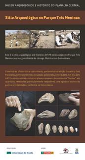 Sítio arqueológico no Parque Três Meninas