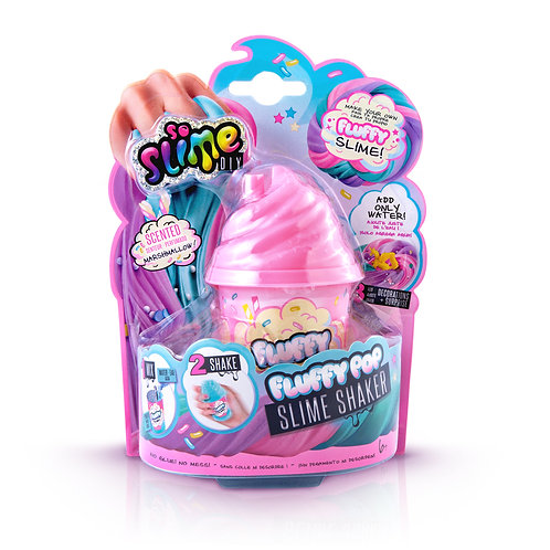 Slime Shaker Fluffy Rosa