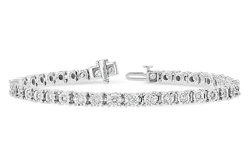 2.00ctw Diamonds 14k White Gold Bracelet