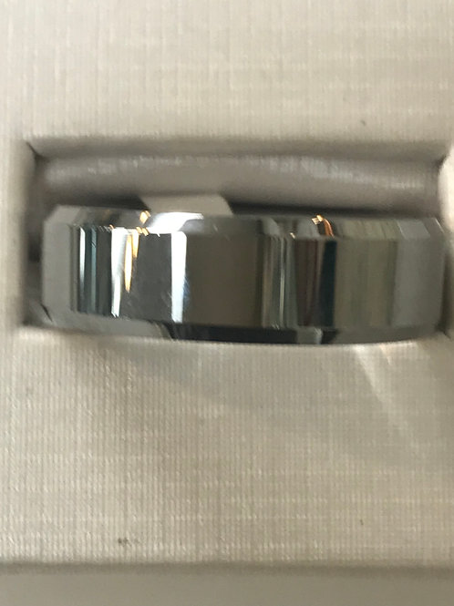 Tungsten Carbide Silver Wedding Band