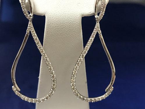 .25ctw Diamonds 10k Lever-back Drop Earrings